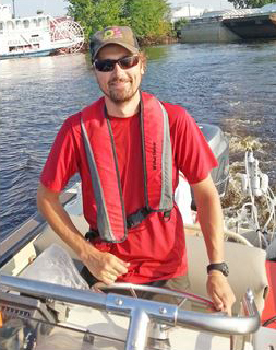 Luke Loken on the Mississippi River with the FLAMe